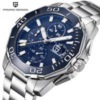 PAGANI DESIGN Stainless Steel Men Watches Luxury Brand Chronograph Sport Business Waterproof Quartz Wrist Watch Men Clock Male