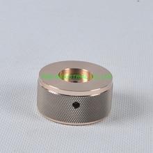 1pc 44x22mm Sliver Aluminum Vintage Control Knurled knob for Guitar Amplifier Parts