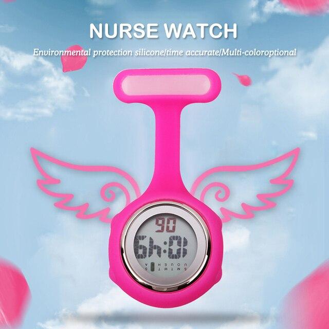 2017 dijital silikon hemşire İzle fob cep İzle doktor hemşire timepiece broş yaka tıbbi hemşire izle kuvars ile klip ALK