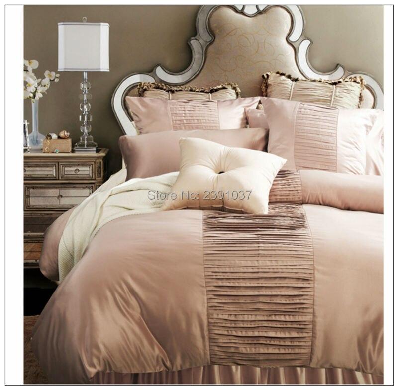 Высокое качество Европейский Стиль Розовый 4 шт. Постельное белье, Набор пододеяльников для пуховых одеял комплект кровать Простыни плед По