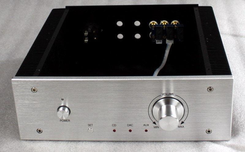 Full Aluminum amplifier chassis amp Enclosure DAC Box 260*270*90mm L163 67|box box|box amps|box enclosure - title=
