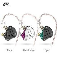 Плотным верхним ворсом KZ ZSN 1BA + 1DD тяжелый бас коммутативной кабель наушники Hi-Fi Quad core управлением Музыка Движение ZST AS10 ZS10 BA10 ES4 V80 T2 AS16