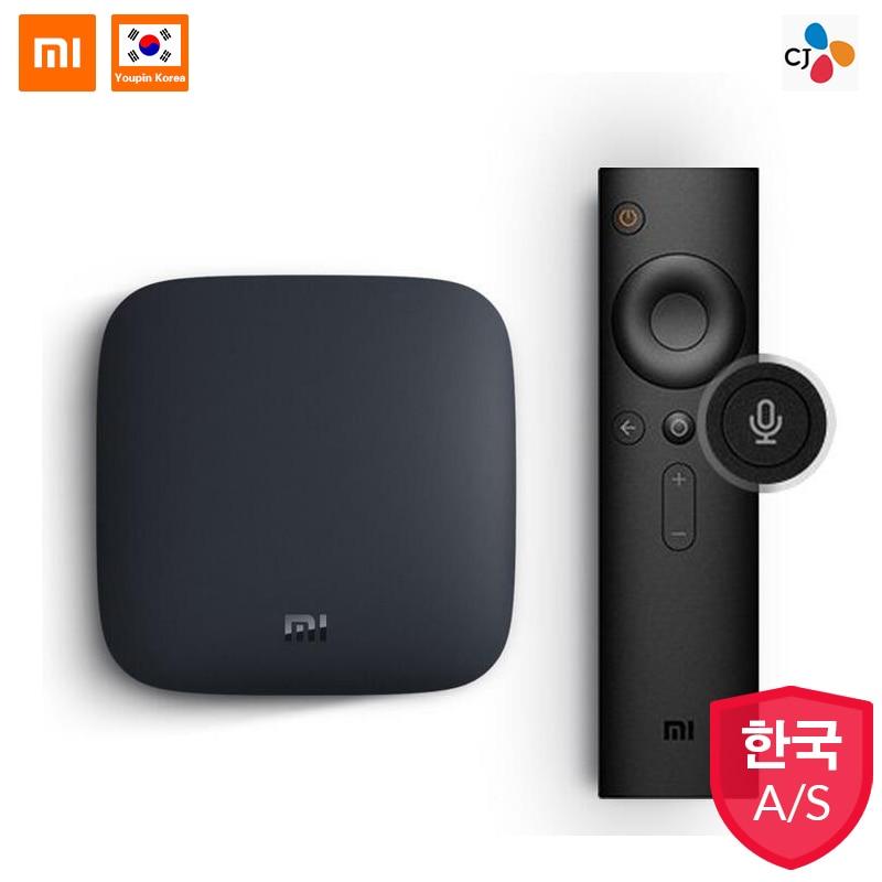Boîtier TV d'origine Xiao mi mi 3 Smart 4 K Ultra HD 2G 8G Android 8.0 film WIFI Google Cast Netflix Red Bull lecteur multimédia décodeur
