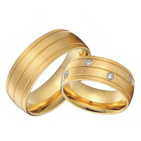 bridal pair gold color health titanium jewelry 8mm custom alliance wedding bands couples rings sets for lovers