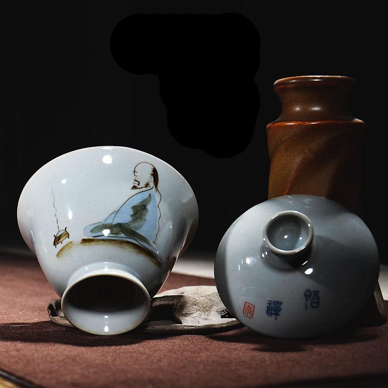zen japons estilo vintage porcelana gaiwan china kung fu t juego de t tazn maestro taza
