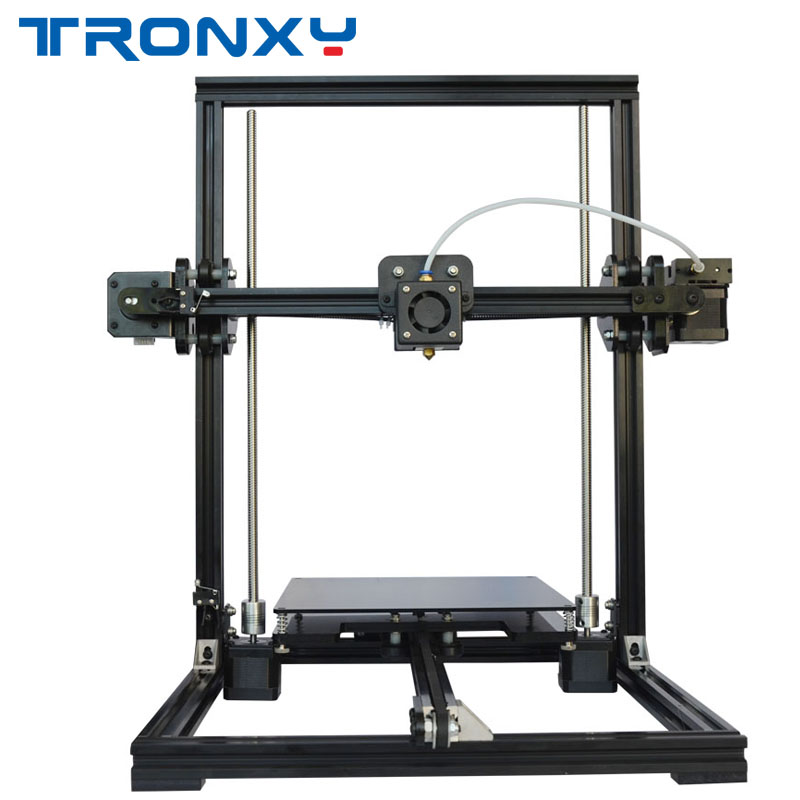 TRONXY X3A Auto Leveling DIY 3D Printer Kit 220*220*300mm Printing Size 1.75mm Filament 0.4mm Nozzle Support Off-line Print zonestar newest full metal aluminum frame big size 300mm x 300mm auto level laser engraving run out decect 3d printer diy kit
