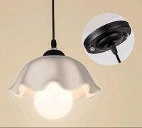 Современная классика цветочные керамические подвесные светильники E27 белый абажур один светильники для Крыльцо & кафе и лестницы и крючок и...