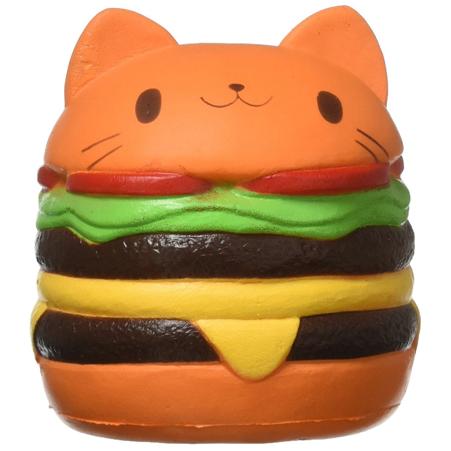 2018 New Squishy Cat Hamburger Food Squishys Cake Stress Relief toys Scented Squeeze Slow Rising Fun Toy Relieve Stress Cure G