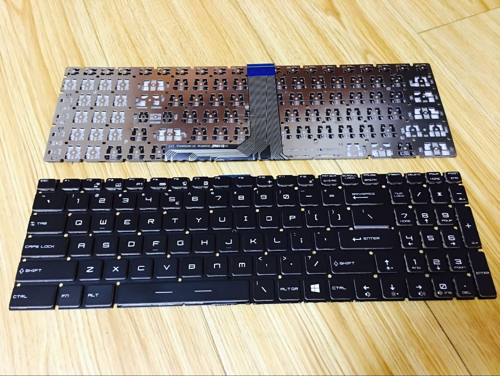 New Laptop keyboard for MSI GP62 GP72 GT72 WS60 GS70 GT73VR GS72 GL62 GE72VR US layout russian new laptop keyboard for samsung np300v5a np305v5a 300v5a ba75 03246c ru layout