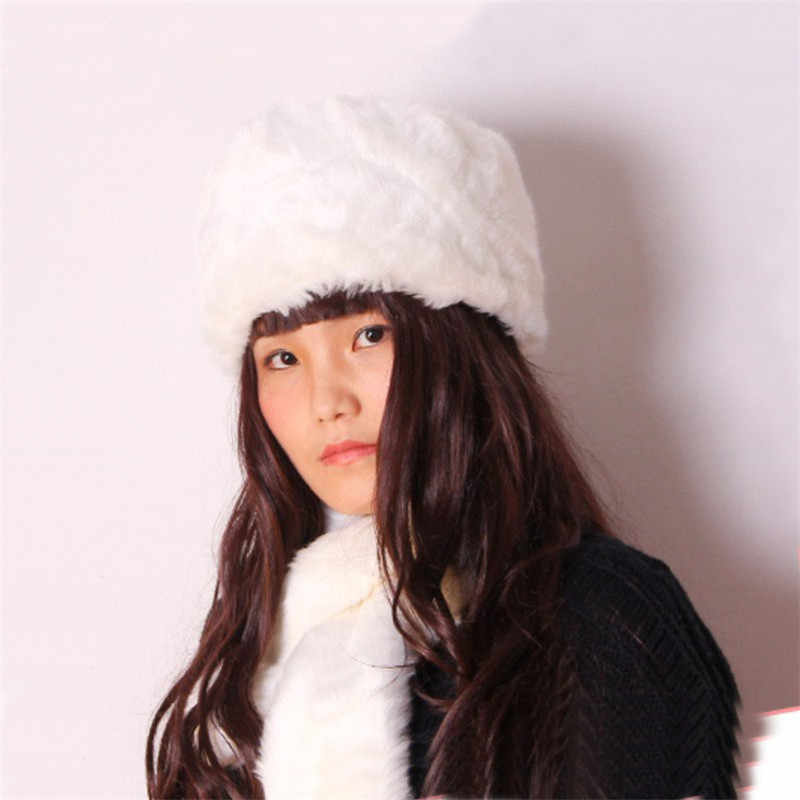 759bb7fe3c8 Winter Warm Hat Women Cossack Style Faux Fur Hat Russian Outdoor Female  Russia Cap Hat Women s