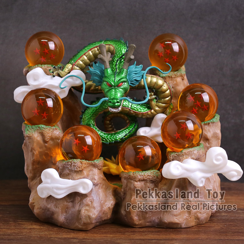 Dragon Ball Z Shenron + Mountain Stand + 7 Crystal Balls Set PVC Figure Collectible Model Toy Without Retail Box