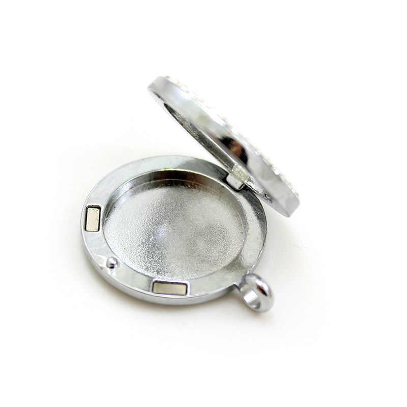 Смешанный стиль оптом сплав эфирное масло Медальоны 30 мм Арома колье аромараспылитель, Принять настройку AN106-280