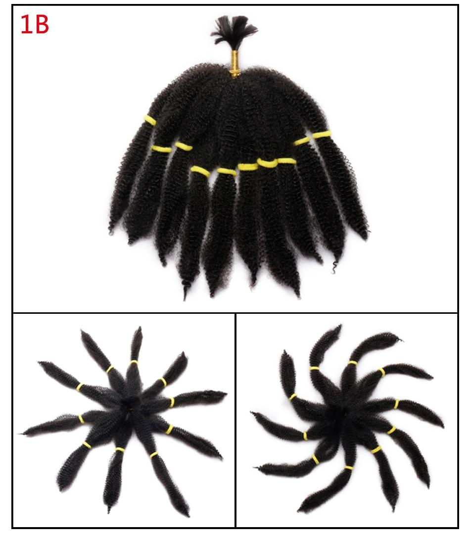 ᐅ10 pulgadas Crochet trenza pelo Afro Kinky Twist Marley trenzar el ...
