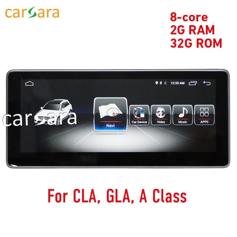2G RAM 10.25 Android affichage pour Mercede Benz CLA GLA Une Classe W176 2013-2018 radio gps tableau de bord stéréo lecteur multimédia