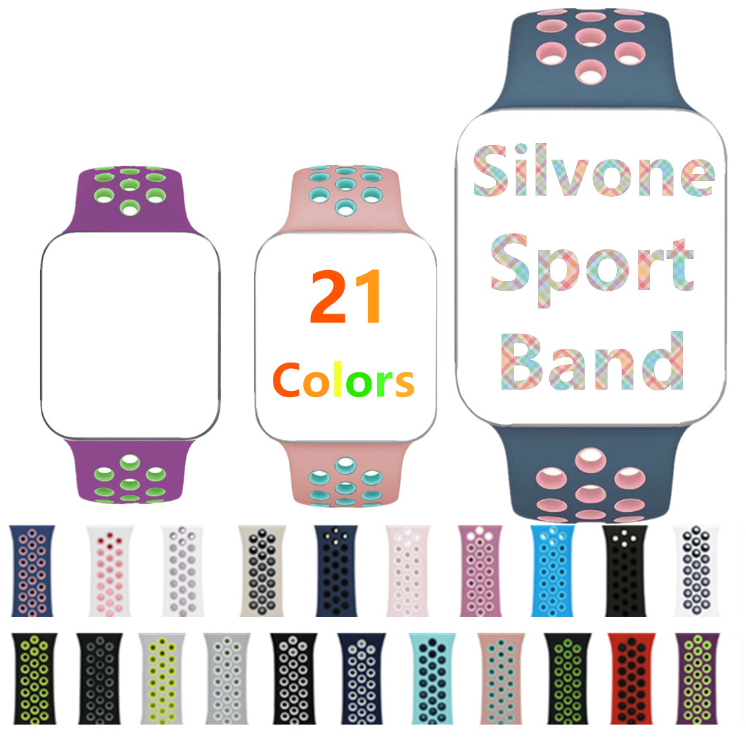 Sports Edition Strap Series 3 2 1 watchband iwo 5 6 7 Watch Bands for Apple Watch Soft Silicone loop Band for iwatch 38mm 42mm sport soft silicone iwo 5 6 7 strap series 3 2 1 for apple watch 42mm 38mm bracelet wrist band watch watchband for iwatch 3 2 1