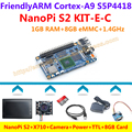 NanoPi S2 + X710 S5P4418 Quad Core Cortex-A9 + Camera + 8 GB Card + Energia + TTL = NanoPi S2 KIT-E-C (Roda u-boot, Android5.1, Debian8)