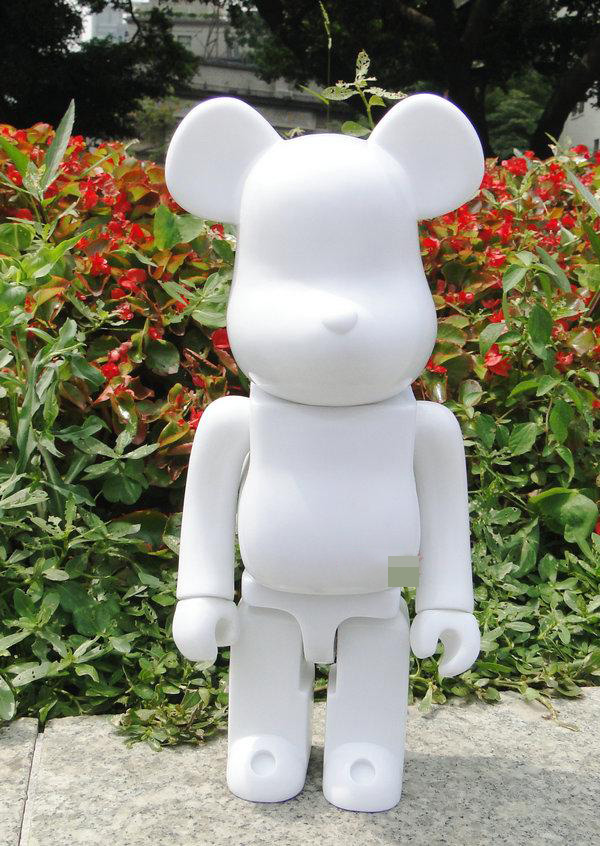 400% bearbrick bear@brick DIY Paint PVC Action Figure White Color With Opp Bag 400% bearbrick bear brick ted2 bear model art figure as a gift for boyfriends girlfriends and students