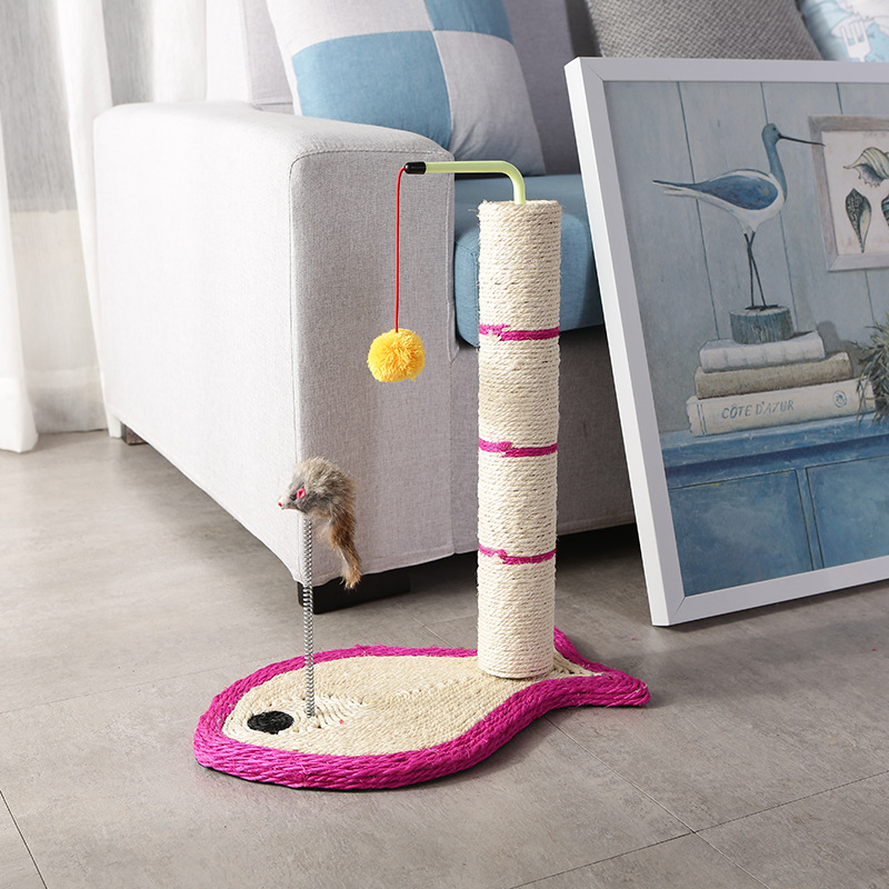Pet supplies elliptic cat scratch column fish shape cute climbing frame interactive puzzle toy wholes in Cat Toys from Home Garden
