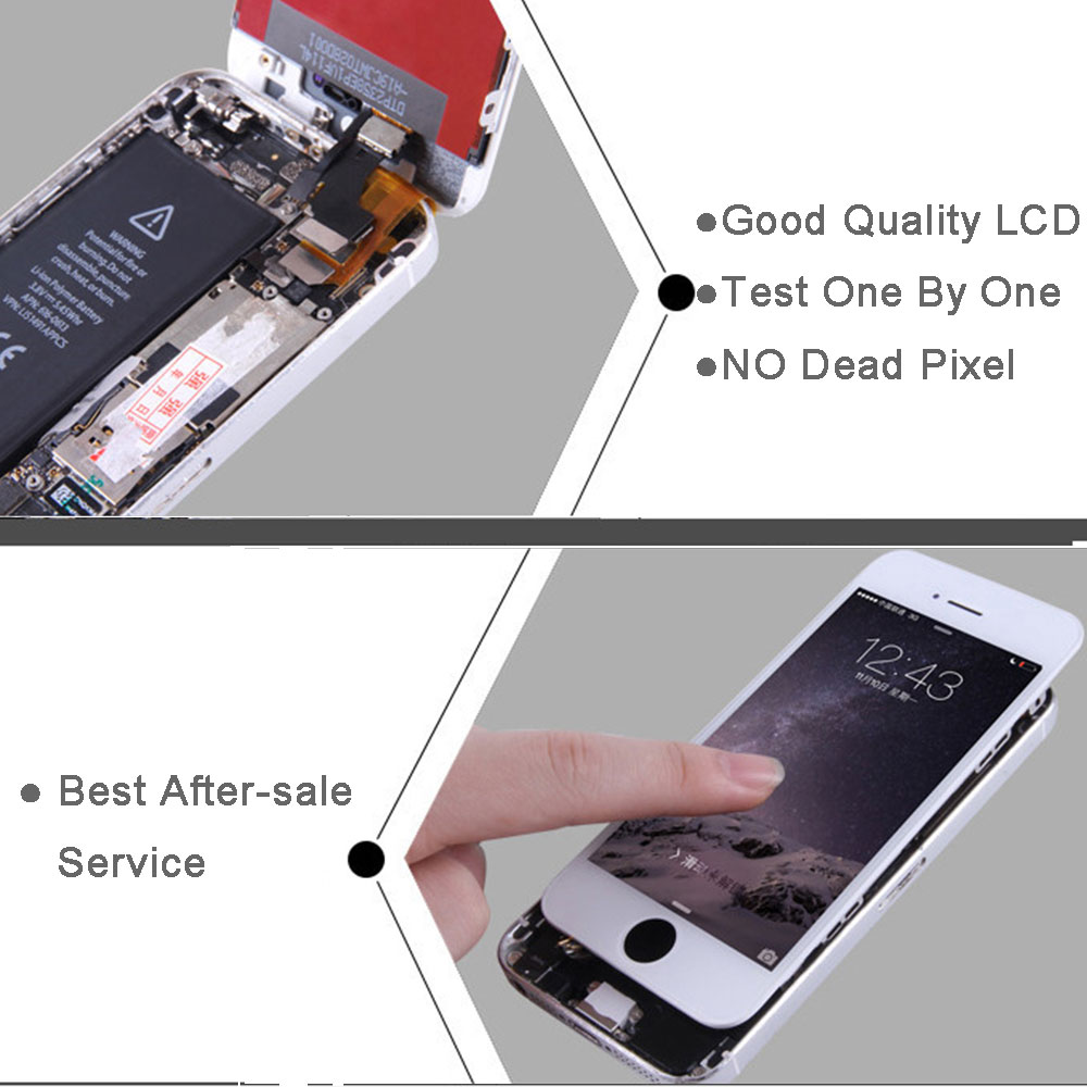 Image 5 - Full set screen For iPhone 6 6G 6 plus Screen LCD Replacement Display ,complete With Home Button Front Camera Speaker-in Mobile Phone LCD Screens from Cellphones & Telecommunications on