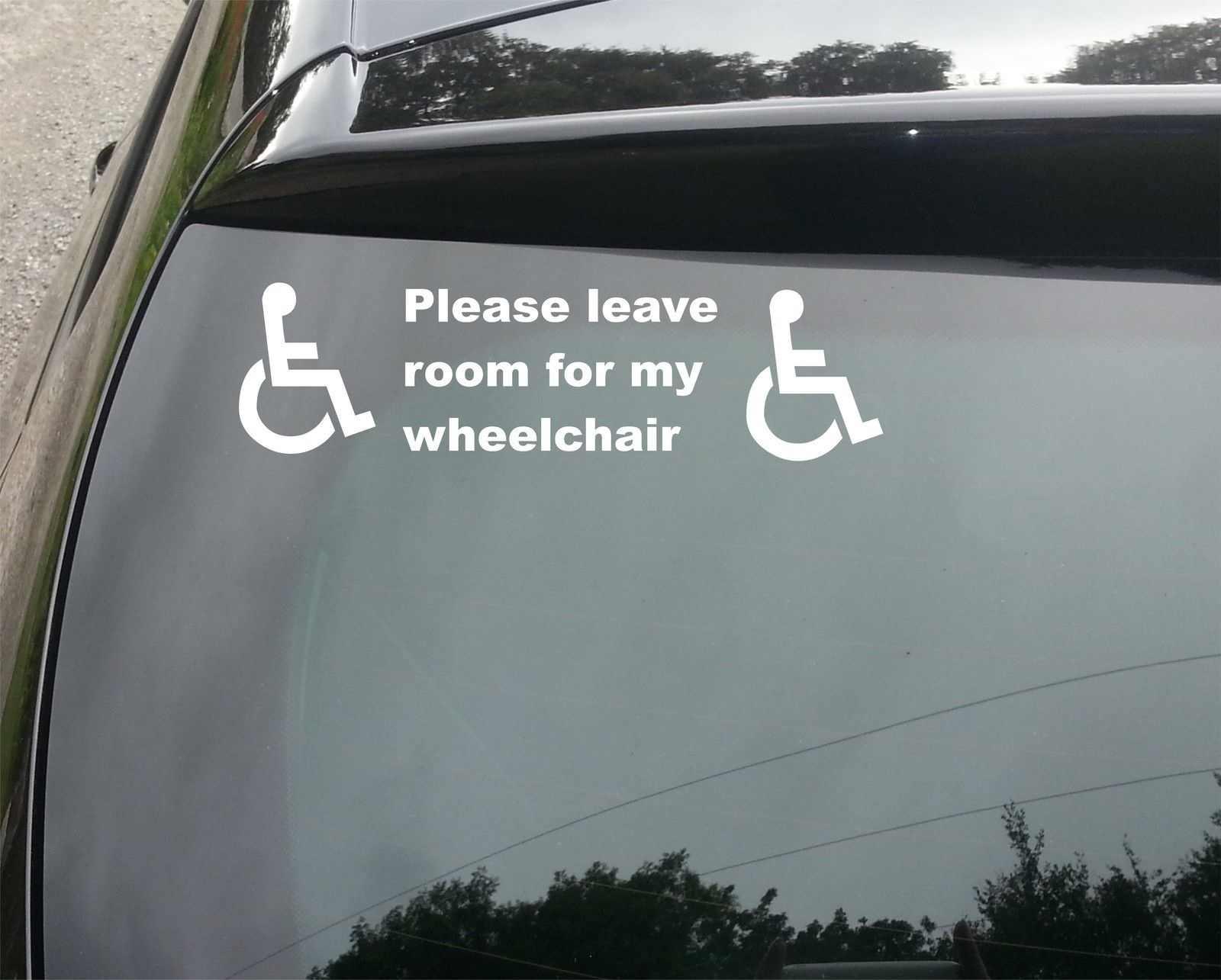 คนพิการป้ายDisability Mobilityสติกเกอร์หน้าต่าง/ไวนิลDECAL 15ซม.