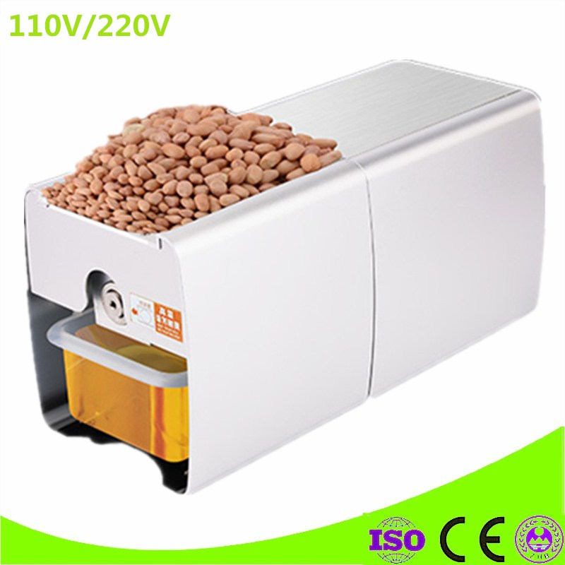 Cold And Hot Almond Press Oil Machine Stainless Steel Peanut Groundnut Oil Extraction Machine brand new 220v heat and cold home oil press machine peanut cocoa soy bean oil press machine high oil extraction rate page 8