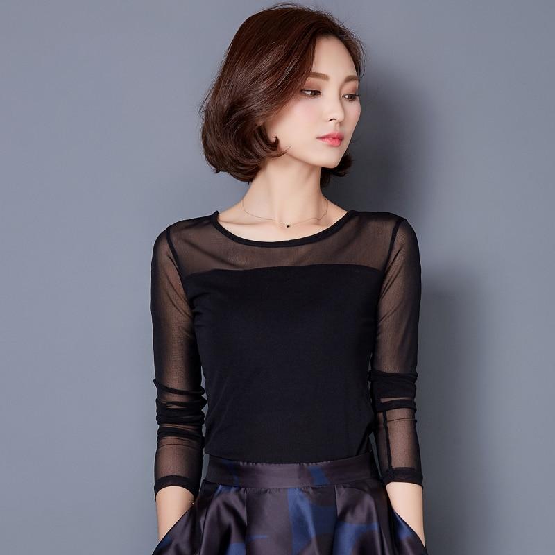 Blusas 2018 Automne Hiver Blouse En Dentelle Mode Crochet Dentelle Tops À Manches Longues Chemise Femmes Blouses Rouge Noir Bleu Plus La Taille