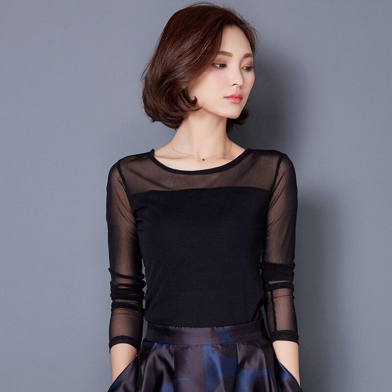 Blusas 2019 Autumn Winter Lace Blouse Fashion Crochet Lace Tops Long Sleeve Shirt Women Blouses Red Black Blue Plus Size Top