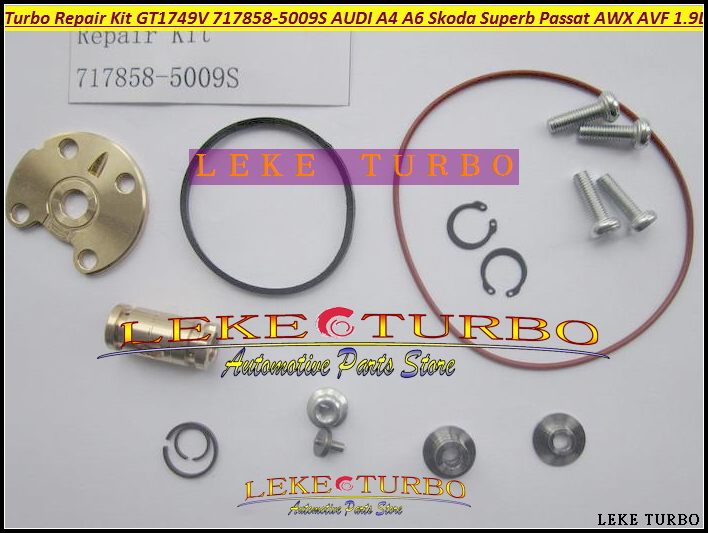 Turbo Repair Kit rebuild Kits GT1749V 717858 717858-0001 038145702N 038145702G 038145702J 038145702E AWX AVF BLB AVB BPW 1.9TDI turbo chra cartridge core gt1749v 717858 5009s 717858 0005 717858 for audi a4 a6 for skoda superb for vw passat b6 awx avf 1 9l