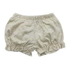 2019 Summer Short Fille Cotton Ruffle Baby Shorts Knitting Toddler Girls Shorts Kids Baby Girl Casual Short Pants Kids Clothes цены онлайн