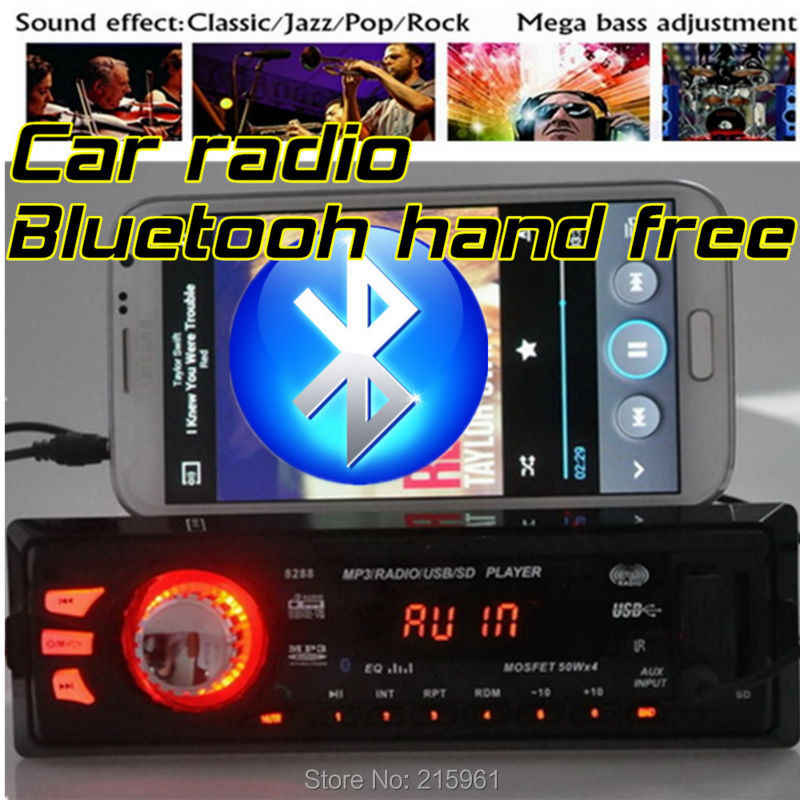 New 12V Bluetooth Car radio Stereo FM Radios MP3 Audio Player 5V Charger USB/SD/AUX in Car Electronics bluetooth In-Dash 1 DIN
