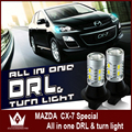 Night Lord For Mazda CX-7 led 20smd White+Amber led  DRL&Front Turn Signal  all in one  Free shipping