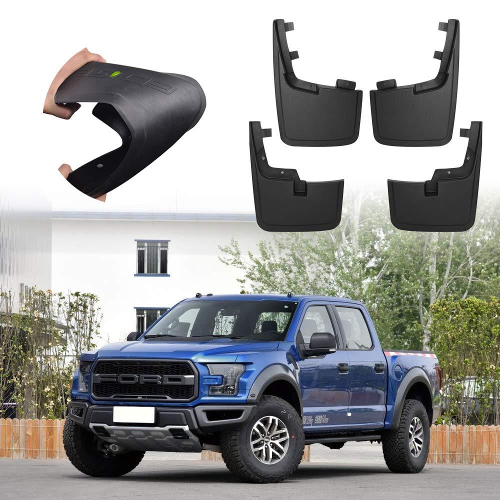 4Pcs set Car fender Black Mudguards Front Rear side Mudflaps Mud Guards For Ford F150 SVT
