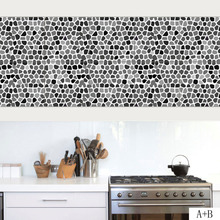 Retro Tiles Wall Stickers for Bathroom Kitchen 3D Tile Stickers Decor Adhesive Waterproof PVC Wall Stickers Kitchen Waist Line