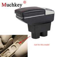 For Nissan Tiida 2005 2014 Armrest Box Center Storage Box With Cup Holder Ashtray Stowing Tidying Arm Rest Rotatable Car styling