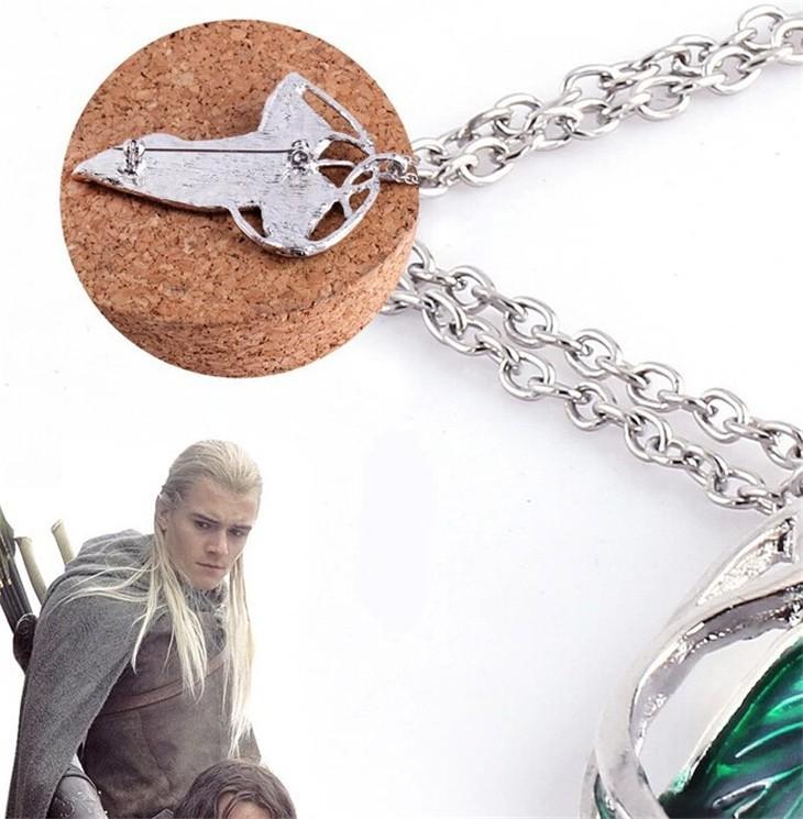 The Hobbit Green Leaf Pendant