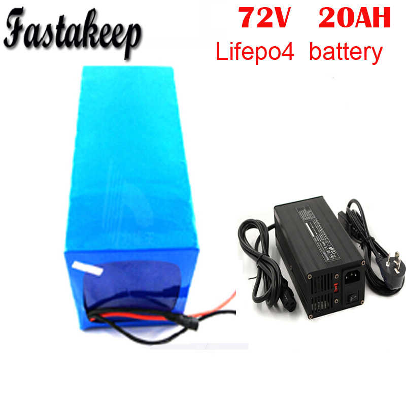 Lithium iron phosphate battery 72v 20Ah LiFePO4 battery pack with BMS and 5A charger