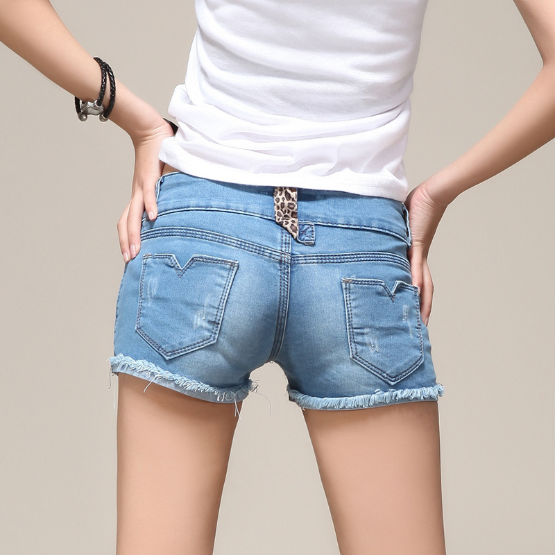 Online Shop Deep Blue Jeans Shorts Women 2015 Denim Shorts Ladies ...