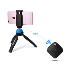 Universal Mini Table Tripod with Phone Mount & Bluetooth Remote control Set for Youtube Video Blog for iPhone Smartphone