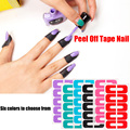 6colors  Plastic Peel Off Tape Palisade Nail Protector Easy Fast Clean for Nail Art Painting Polish UV Gel Stamping Plate Tools