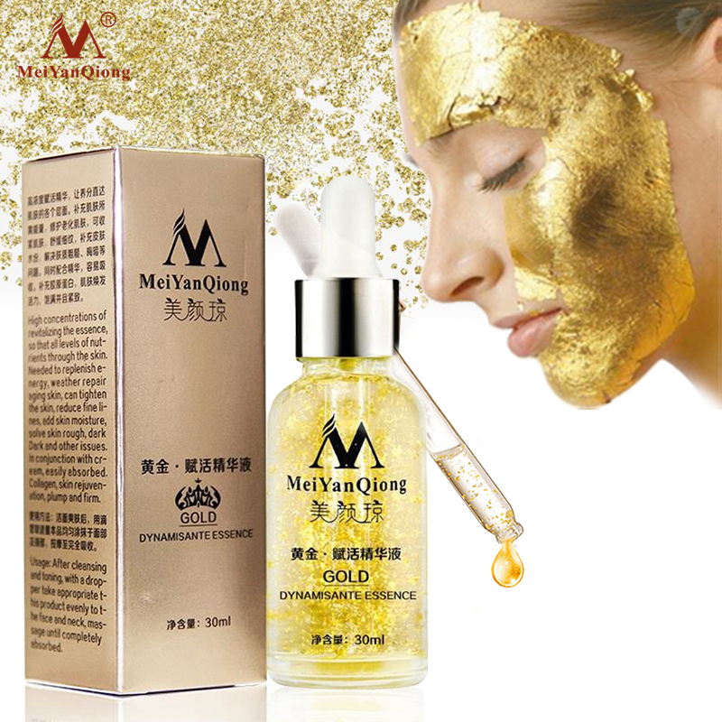 Pure 24K Gold Essence Day Cream Skin Care Anti Wrinkle Face Care Anti Aging Collagen Whitening Moisturizing Hyaluronic Acid
