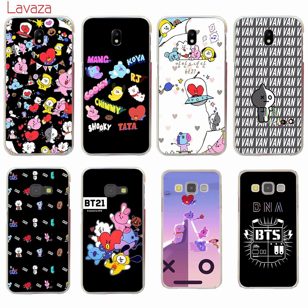 Lavaza BTS BT21 Hard Cover Case for Samsung Galaxy J7 J1 J2 J3 J5 2015 2016 2017 Prime Pro Ace 2018 Cases