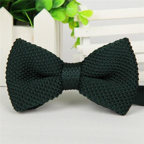 Фирменная новинка, мужской однотонный Вязаный Галстук-бабочка, Модный свадебный смокинг, красный, черный, белый, зеленый, голубой конфетный цвет, галстуки-бабочки - Цвет: 03