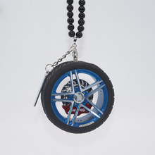Metal Wheel Hub Car Pendants In Auto Interior Decor Car Rear View Mirror Hanging Accessorie