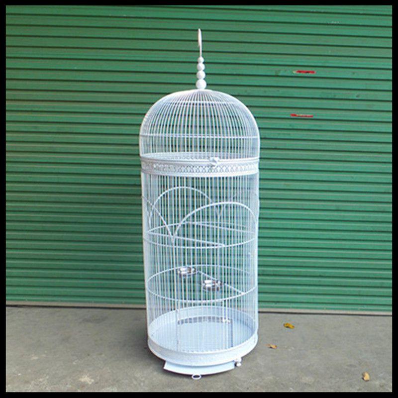 Perroquet en métal huit frère aîné Myna la colombe grand groupe de cages à oiseaux grande cage à oiseaux en fer forgé