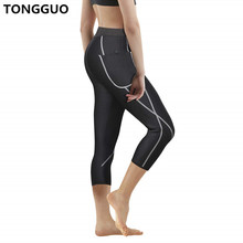 TONGGUO 2019 Cropped Trousers Neoprene Control Pants New Women Body Shaper Workout Waist Trainer Shapewear Slimming Shorts