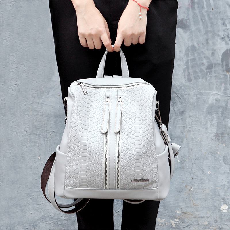 2018 Fashion Casul High Quality Women Backpacks Women's PU Leather Backpacks Girl School Bag Ladies Bags Designer Backpack