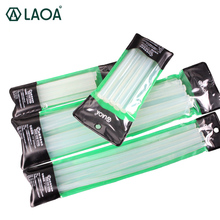 LAOA 50pcs Translucent  7mm/11mm Hot Melt Glue Sticks For Glue Gun Craft Album Tools 50pcs set 7mm x190mm transparent hot melt gun glue sticks gun adhesive diy tools for hot melt glue gun repair alloy accessories