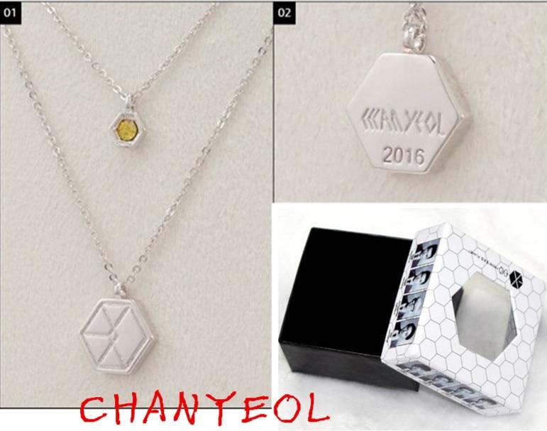2017 New Arrival kpop Exo Necklace &Jewelry Fashion Star 9 Members Logo Necklaces Jewelry For Men Women k-pop exo-k k pop exo-m