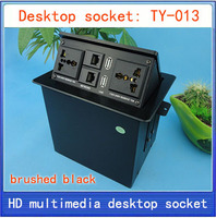 Tomada de Desktop/hidden/socket de Rede/caixa de informações multimídia tomada/tomada de desktop interface de rede RJ45 USB TY-013