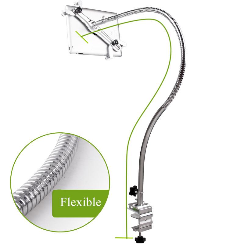 Prix pour Long Bras 105 cm Flexible Full Metal Tablet Titulaire Soutien 4-11 pouces mobile téléphone universel rotation lit paresseux stand pour ipad Mini
